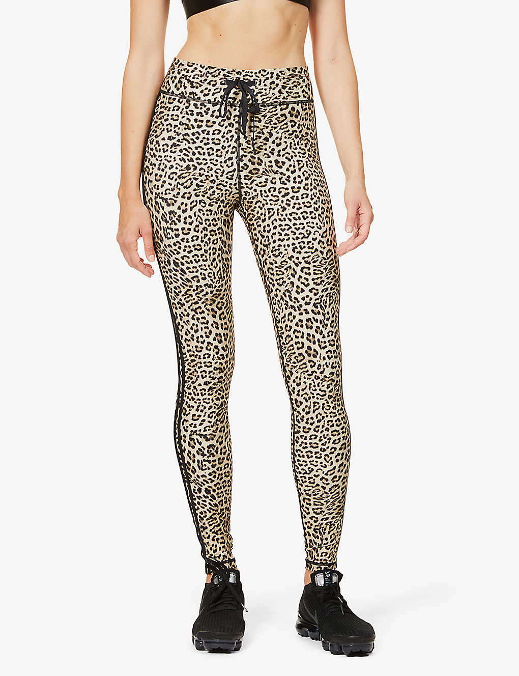 THE UPSIDE: Leo leopard-print high-rise stretch-jersey leggings