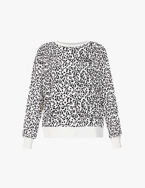 PUMA: Classics leopard-print stretch-cotton sweatshirt