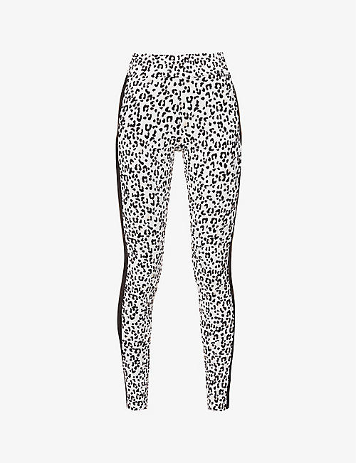 PUMA: Classics leopard-print stretch-cotton leggings