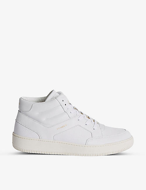 REISS: Grendon leather high-top trainers