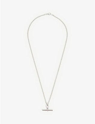 TILLY SVEAAS LTD: T-bar sterling silver belcher necklace