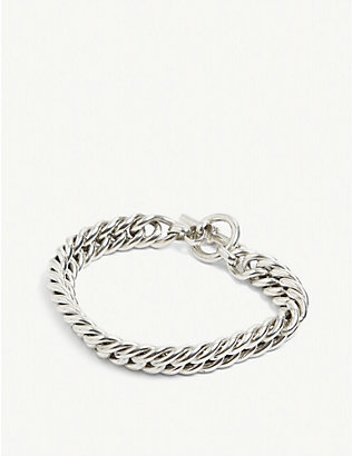 TILLY SVEAAS LTD: Curb linked sterling silver bracelet