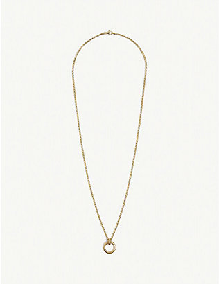 TILLY SVEAAS LTD: Eternity 23ct gold-plated sterling silver belcher chain necklace