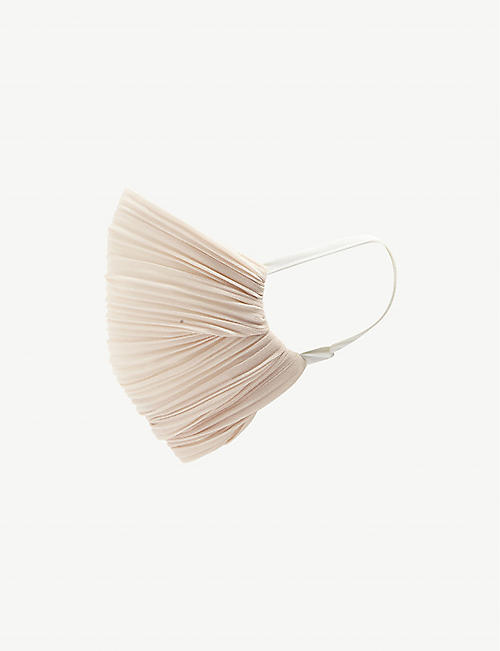 UNTTLD: Pleated satin face covering