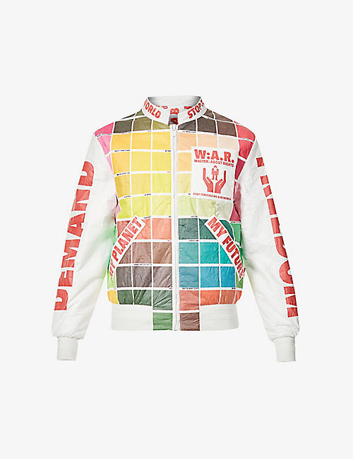 WALTER VAN BEIRENDONCK: My Future colour-blocked shell bomber jacket