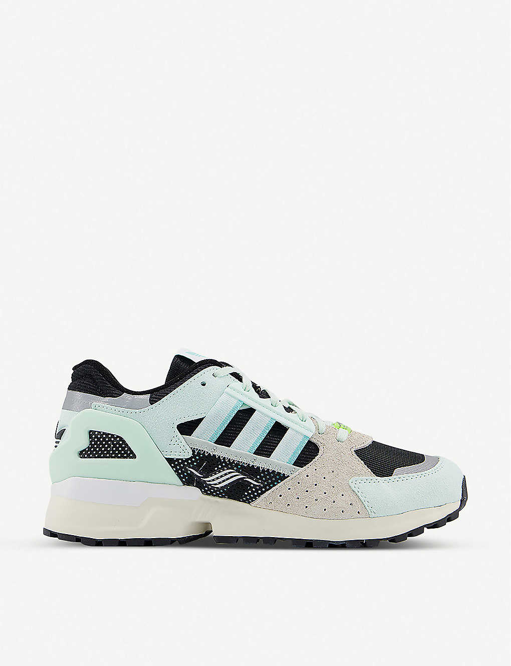 Asia Largo canción  ADIDAS - ZX 10,000 mesh and suede low-top trainers   Selfridges.com