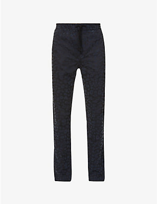 WAX LONDON: Alston straight-leg stretch-cotton trousers