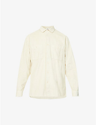 WAX LONDON: Whiting cotton corduroy shirt