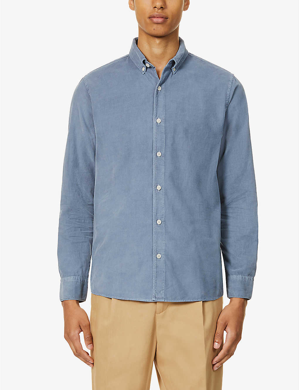 WAX LONDON: Bampton cotton-corduroy shirt
