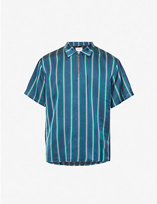 WAX LONDON: Soprano striped woven polo shirt