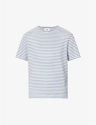 WAX LONDON: Duval striped cotton-jersey T-shirt