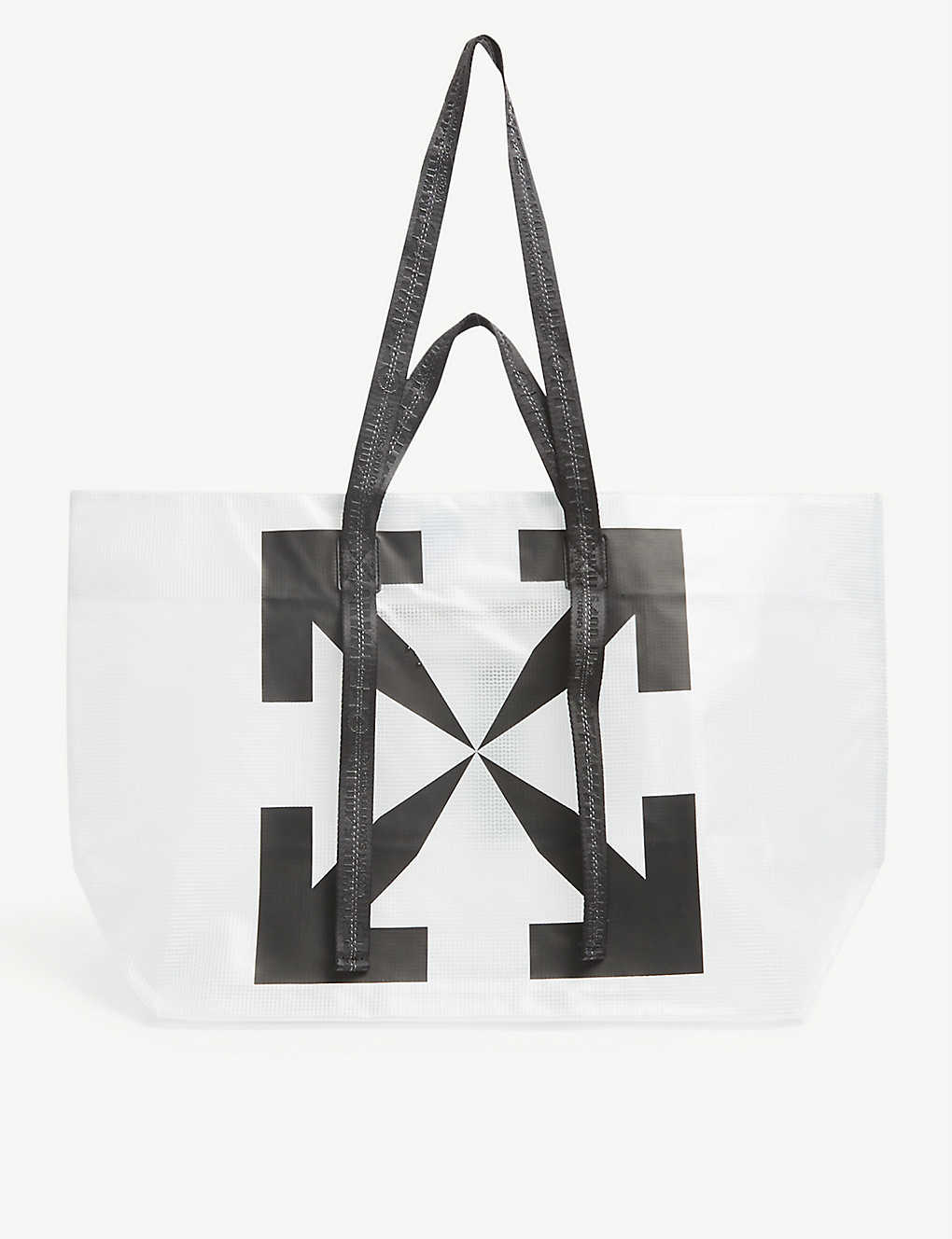 OFF-WHITE C/O VIRGIL ABLOH: Commercial brand-print shell tote