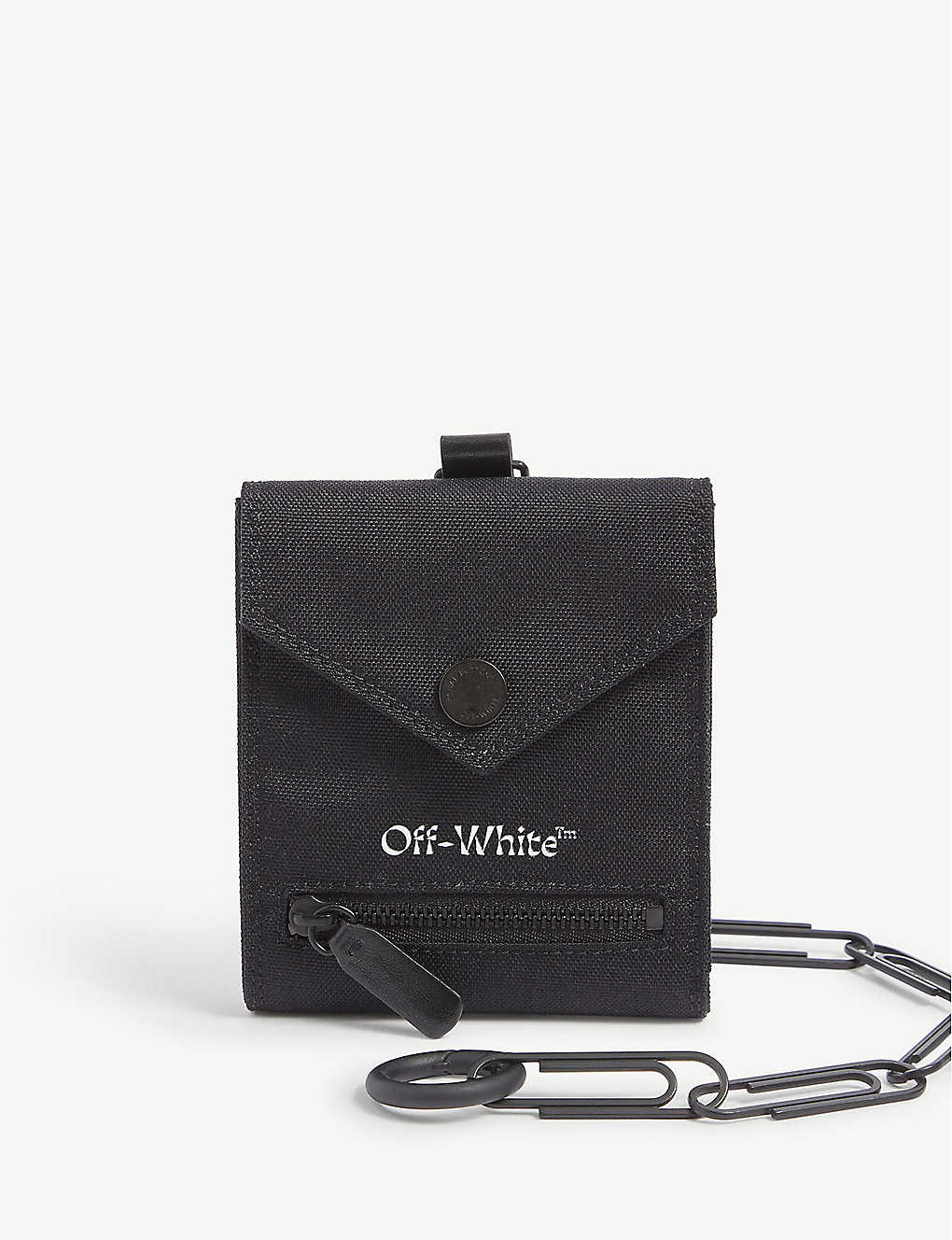 OFF-WHITE C/O VIRGIL ABLOH: Chain-embellished canvas wallet