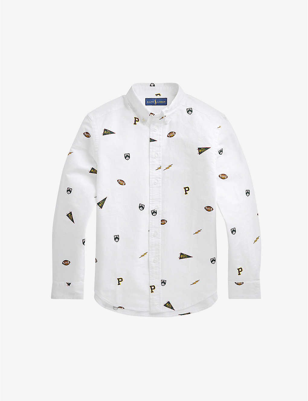 RALPH LAUREN: Schiffli cotton shirt 7 years