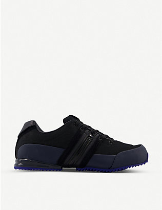 ADIDAS Y3: Y-3 Sprint mesh and leather low-top trainers