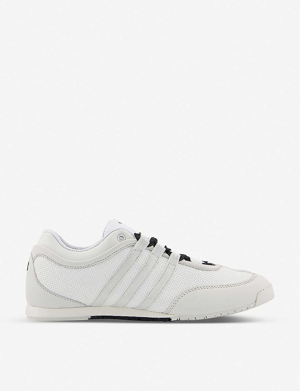 ADIDAS Y3: Y-3 Boxing mesh and leather low-top trainers
