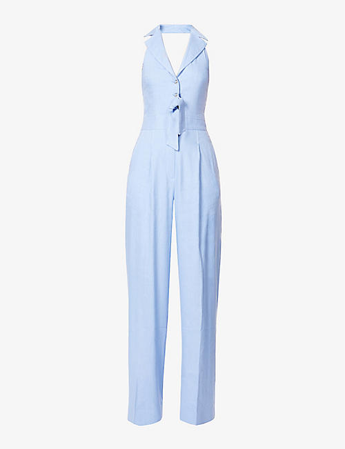 TEMPERLEY LONDON: Sophia sleeveless linen-blend jumpsuit