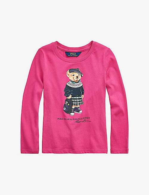 RALPH LAUREN: Bear-print cotton sweatshirt 2-4 years