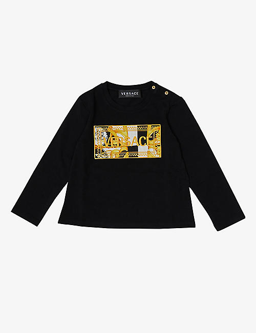 VERSACE: Logo-embroidered cotton sweatshirt 6-36 months