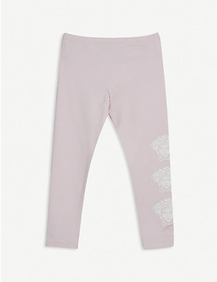 VERSACE: Medusa-logo cotton-blend leggings 3-24 months