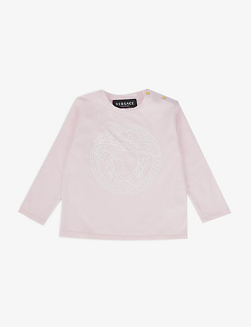 VERSACE: Medusa-logo stretch-cotton T-shirt 3-36 months
