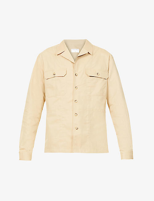 TIGER OF SWEDEN: Frencesco cotton-blend shirt