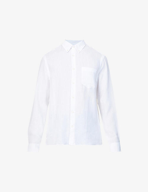 TIGER OF SWEDEN: Sankt regular-fit linen shirt