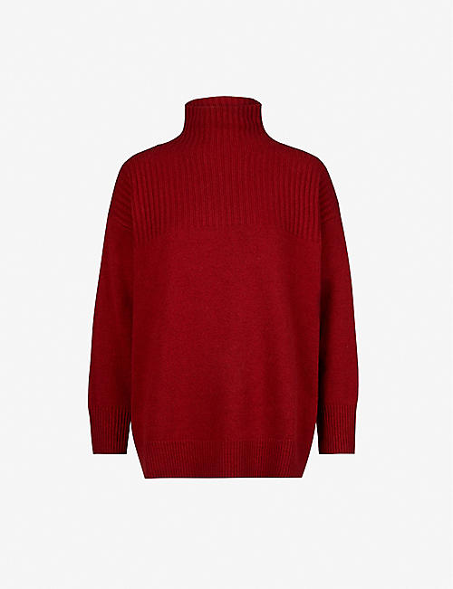 CLAUDIE PIERLOT: Monsieur oversized wool-blend jumper