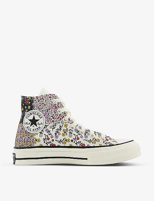 CONVERSE: All Star Hi 70 floral-print high-top canvas trainers