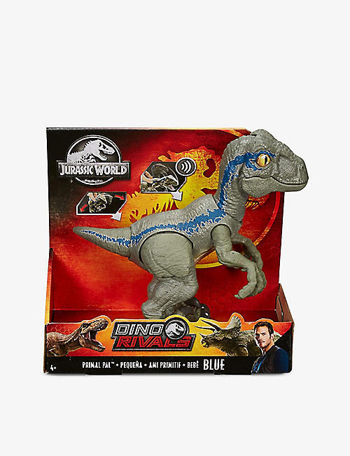 JURASSIC WORLD: Primal Pal Blue dinosaur toy
