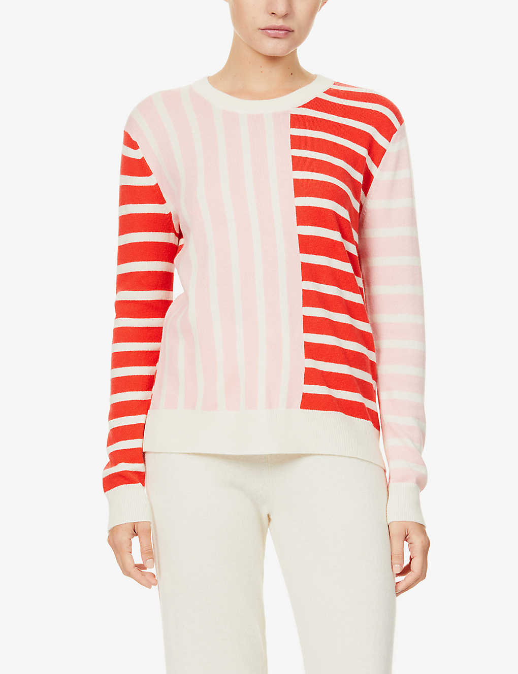 CHINTI AND PARKER: Striped wool and cashmere-blend jumper