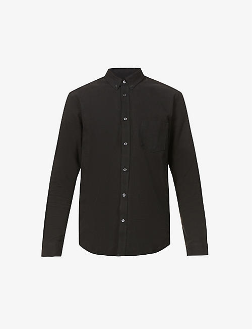 SAMSOE & SAMSOE: Liam textured linen and cotton-blend shirt