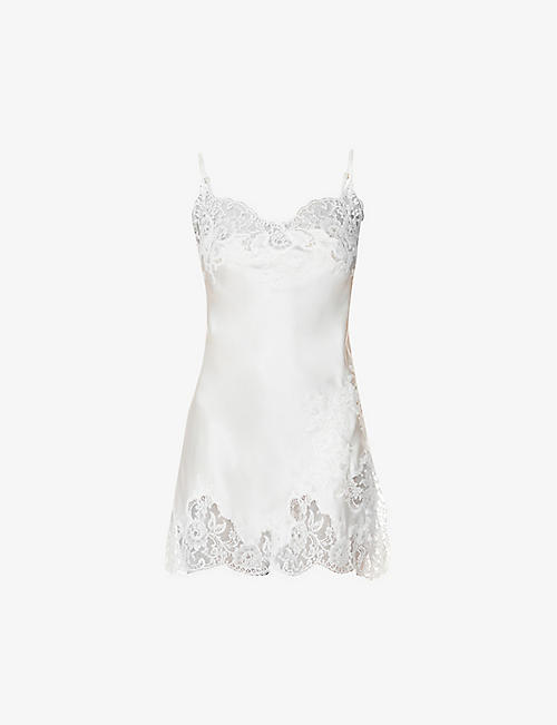 MARJOLAINE: Gemma silk and lace chemise