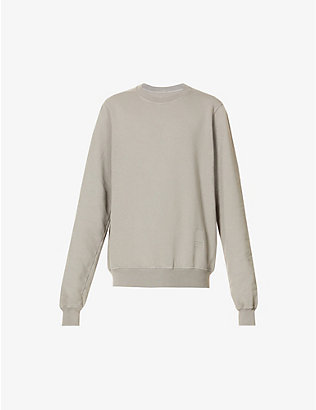 RICK OWENS DRKSHDW: Relaxed-fit crewneck cotton-jersey sweatshirt