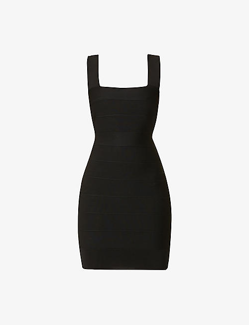 HERVE LEGER: New Icon bandage stretch-knit mini dress