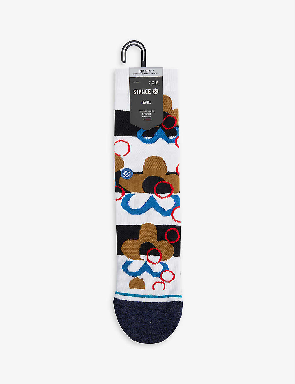 STANCE: Meui graphic-pattern cotton-blend socks
