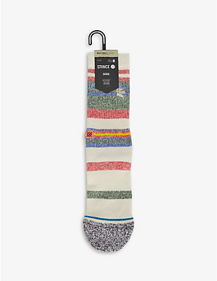 STANCE: Munga stripe-pattern stretch-knit socks