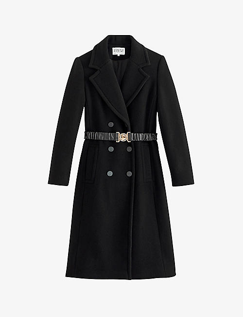 CLAUDIE PIERLOT: Gelata belted wool and cashmere-blend coat
