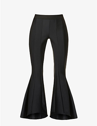 MAGGIE MARILYN: My Own Perspective flared high-rise recycled-polyester-blend trousers
