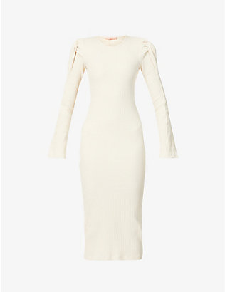 MAGGIE MARILYN: Knot On My Watch fitted stretch-knitted midi dress