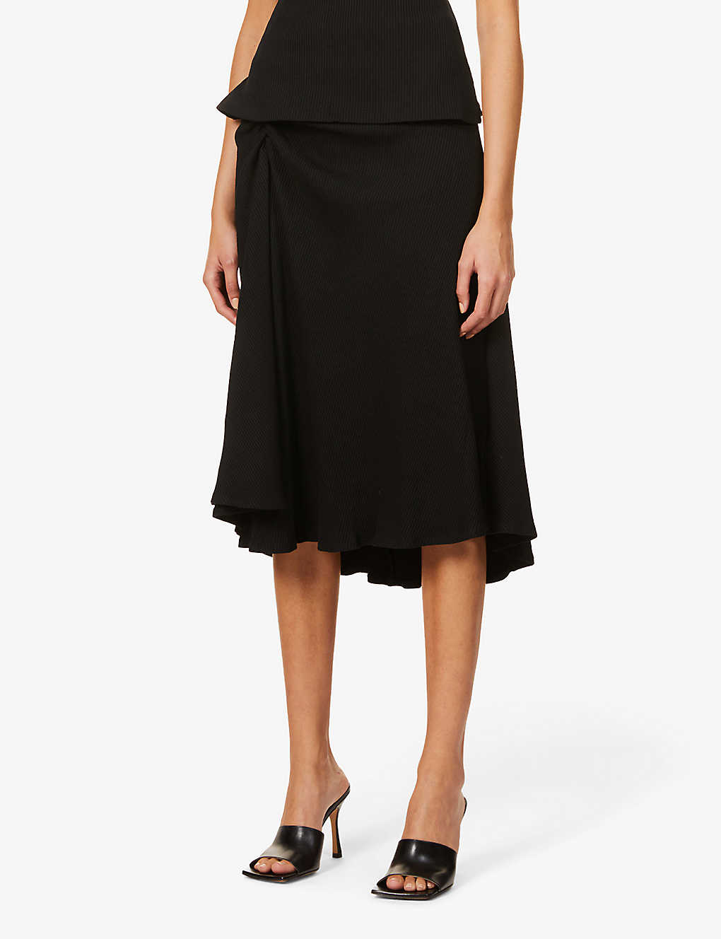 MAGGIE MARILYN: Together We Stand ribbed high-waist stretch-knitted midi skirt