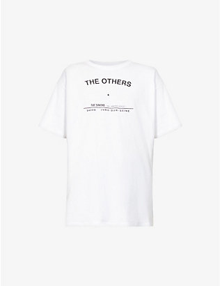 RAF SIMONS: Text-print cotton-jersey T-shirt