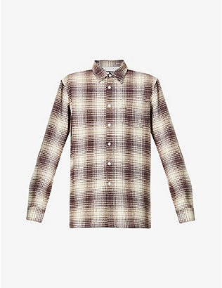 RAF SIMONS: The Others checked cotton shirt