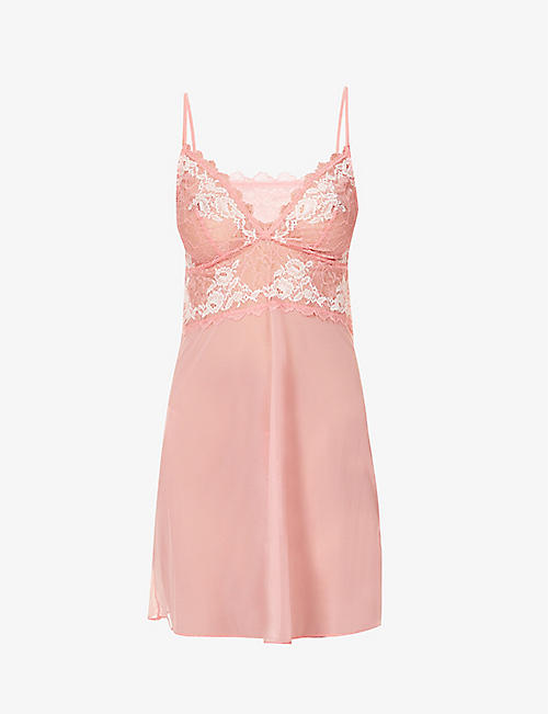 WACOAL: Lace Perfection stretch-mesh chemise