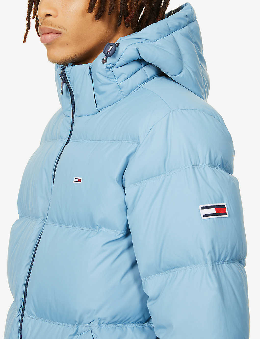 Tommy Jeans Logo Embroidered Quilted Shell Down Jacket Selfridges Com