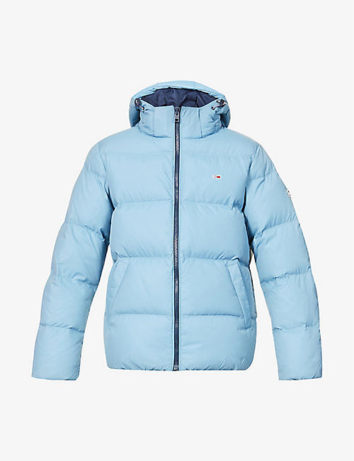 TOMMY JEANS: Logo-embroidered quilted shell-down jacket