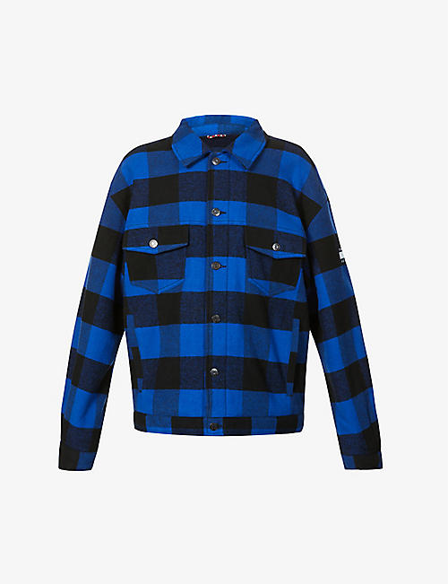 TOMMY JEANS: Checked patchwork cotton-flannel jacket