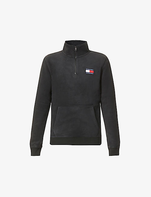 TOMMY JEANS: Polar branded high-neck fleece sweatshirt