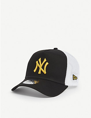 NEW ERA: New York Yankees cotton and mesh trucker cap