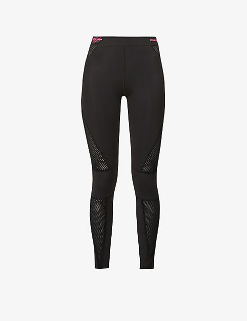 REDEMPTION ATHLETIX: Patterned mid-rise stretch-recycled polyamide leggings